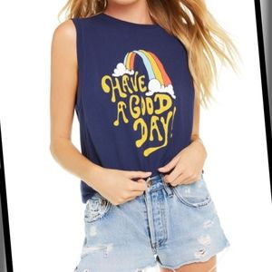 Wildfox Have A Good Day Muscle Tee